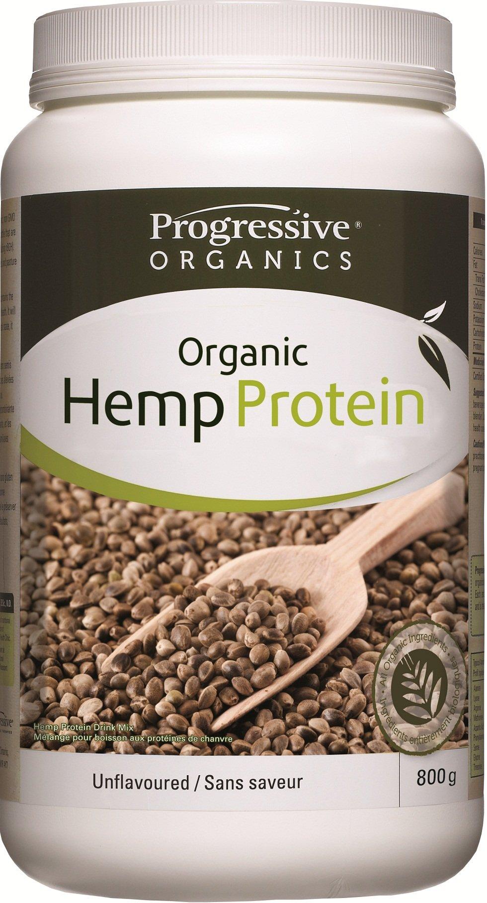 Progressive 100% Organic Hemp Protein Unflavoured, 800 g