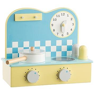 Ultrakidz - Mini-cocina de juguete de madera natural, pequeña y ...