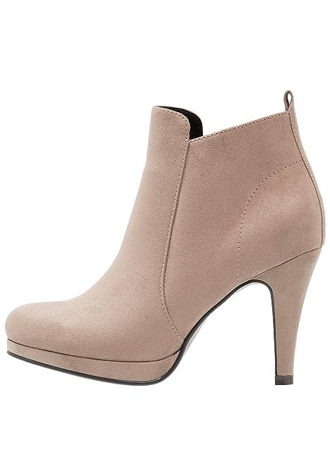 Anna Field Botas de Mujer Al Tobillo - Botines con Tacón EN Beige, Talla 36: Amazon.es: Zapatos y complementos