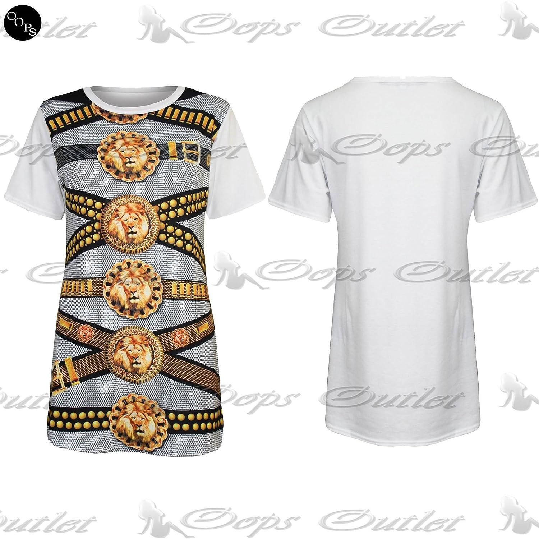 Pure Fashion Damen T-Shirt Mehrfarbig