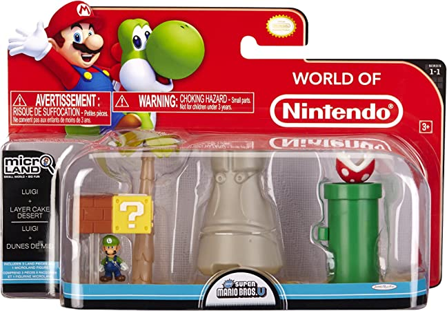 Mario Bros Universe Micro Land Wave 1 Layer Cake Desert with Yoshi Playset