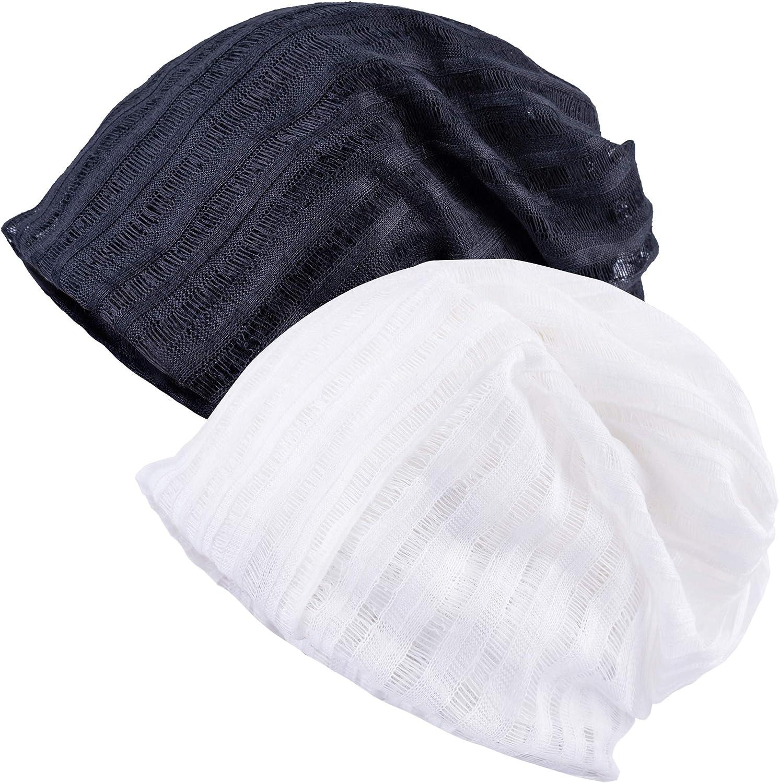 30th floor Cotton Beanie Sleep Turban Hat Headwear Scarves for Women with Cancer Chemo