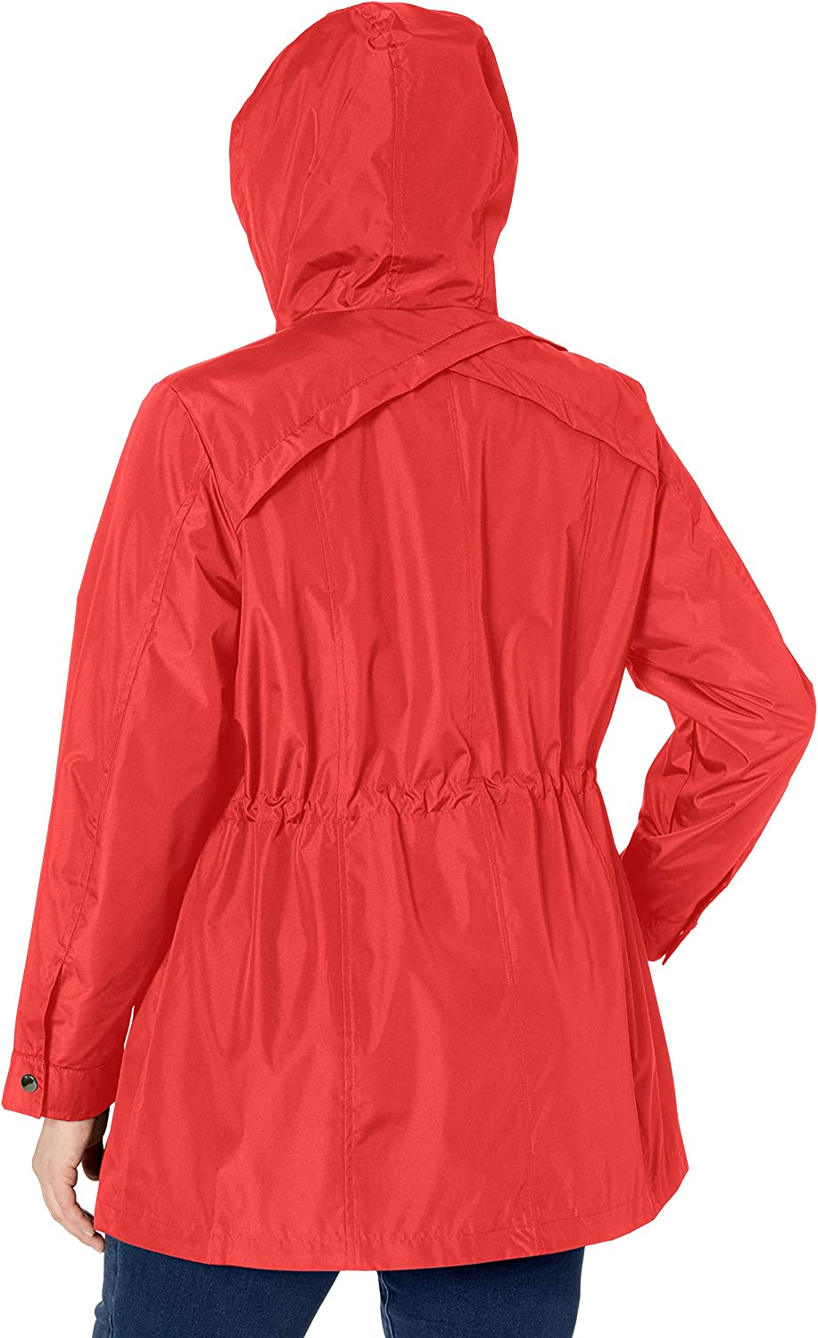 Details Womens Plus Size Zip Front Hooded Anorak