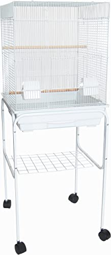 YML 5824 3 8 Bar Spacing Square Top Bird Cage with Stand