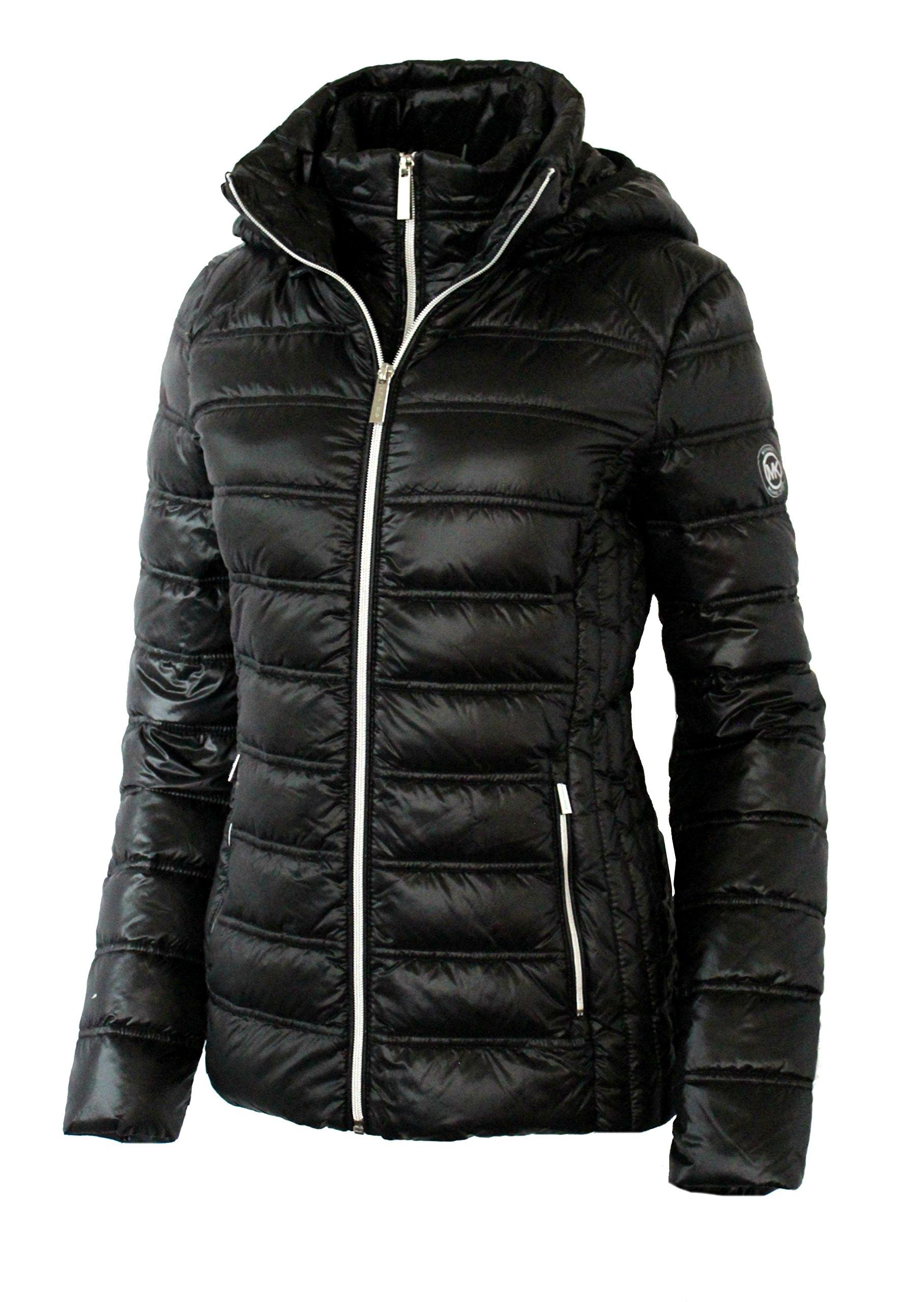 MICHAEL Michael Kors Women's Down Short Packable Puffer Jacket - Black (Small) by MICHAEL Michael Kors