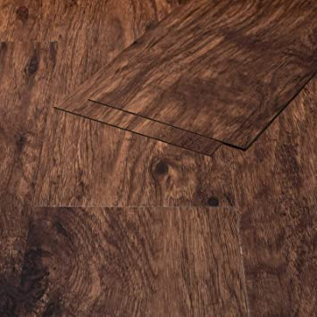 Klebe Vinylboden Selbstklebend Holzoptik Eiche Franken Braun 1 3mm