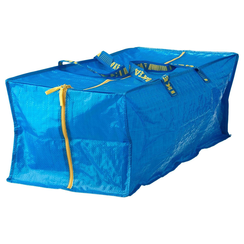 Ikea Frakta Storage Bag,Extra Large - Blue (2 PACK)