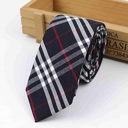 Gentle Corbata de algodón Color clásico Corbata con Costuras de ...