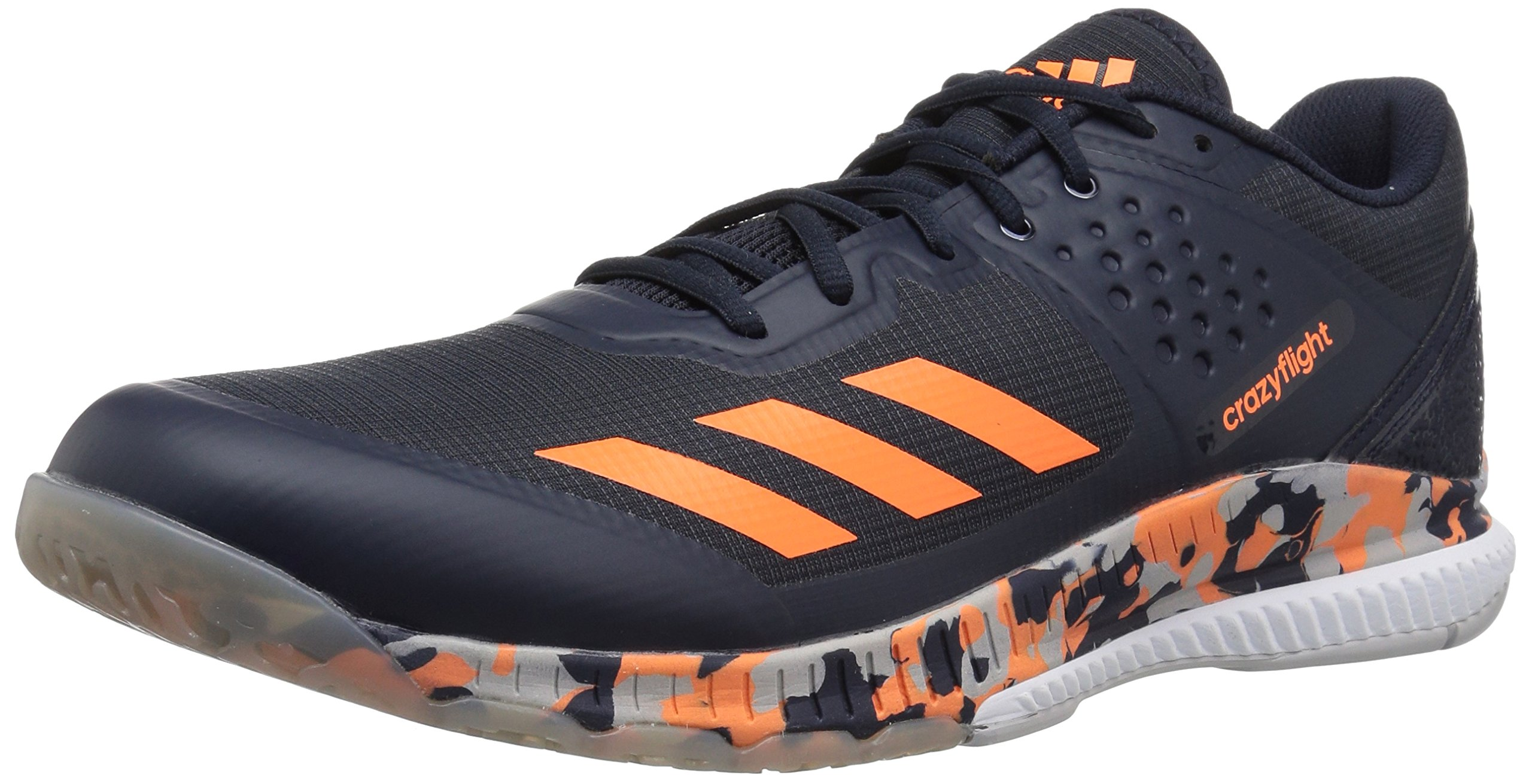 adidas Performance Men's Crazyflight Bounce Volleyball Shoe, Legend Ink/Hi-Res Orange/Grey Two, 10 M US by adidas