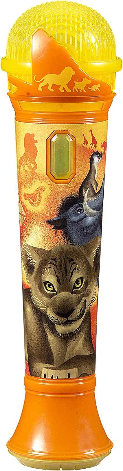 Amazon Com Lion King Sing Along Mp3 Microphone Sing To Built In Music Or Connect Your Audio Device Sing To Whatever You Like Toys Games