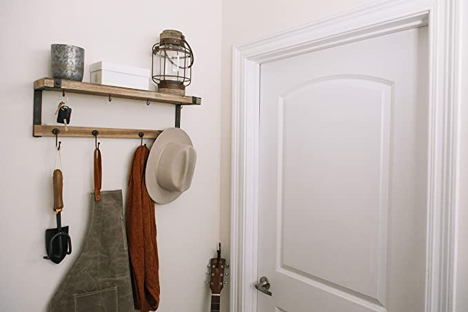 Entryway Coat Rack Shelf : 24