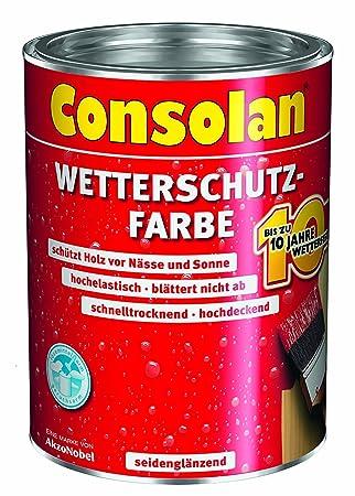 Turbo Consolan Wetterschutzfarbe weiß 2,5L: Amazon.de: Baumarkt KU65
