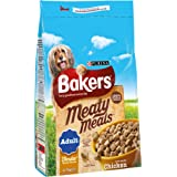 Bakers Complete Dog Food Meaty Meals Tasty Chicken, 2.7 kg - Pack of 4