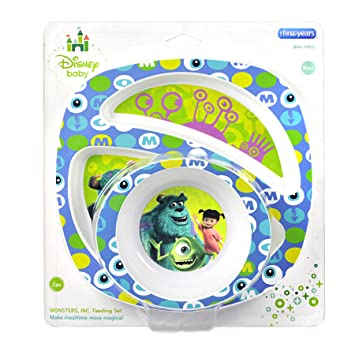 The First Years Disney Monsters Inc. Break Resistant Bowl u0026 Plate 2 Piece Feeding Set  sc 1 st  Amazon.com & Amazon.com : The First Years Disney Monsters Inc. Break Resistant ...