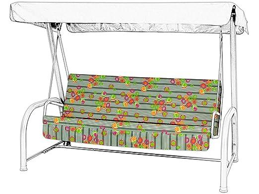 Balancín para jardín hamaca cojín de 4 plazas de repuesto ...