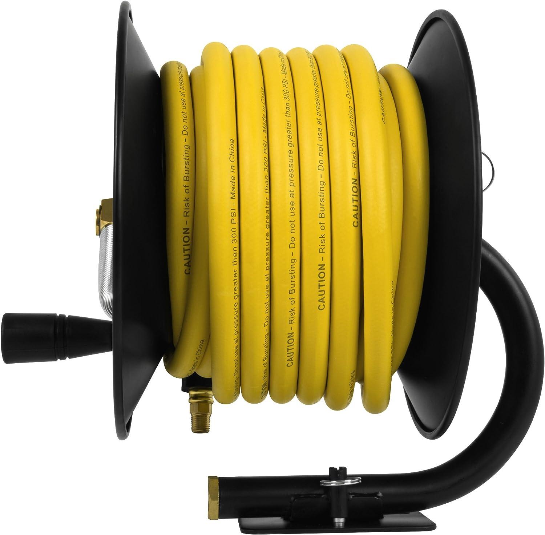 "DeWalt DXCM024-0348 3/8"" x 50' Manual Hose Reel with Rubber Hose - -"