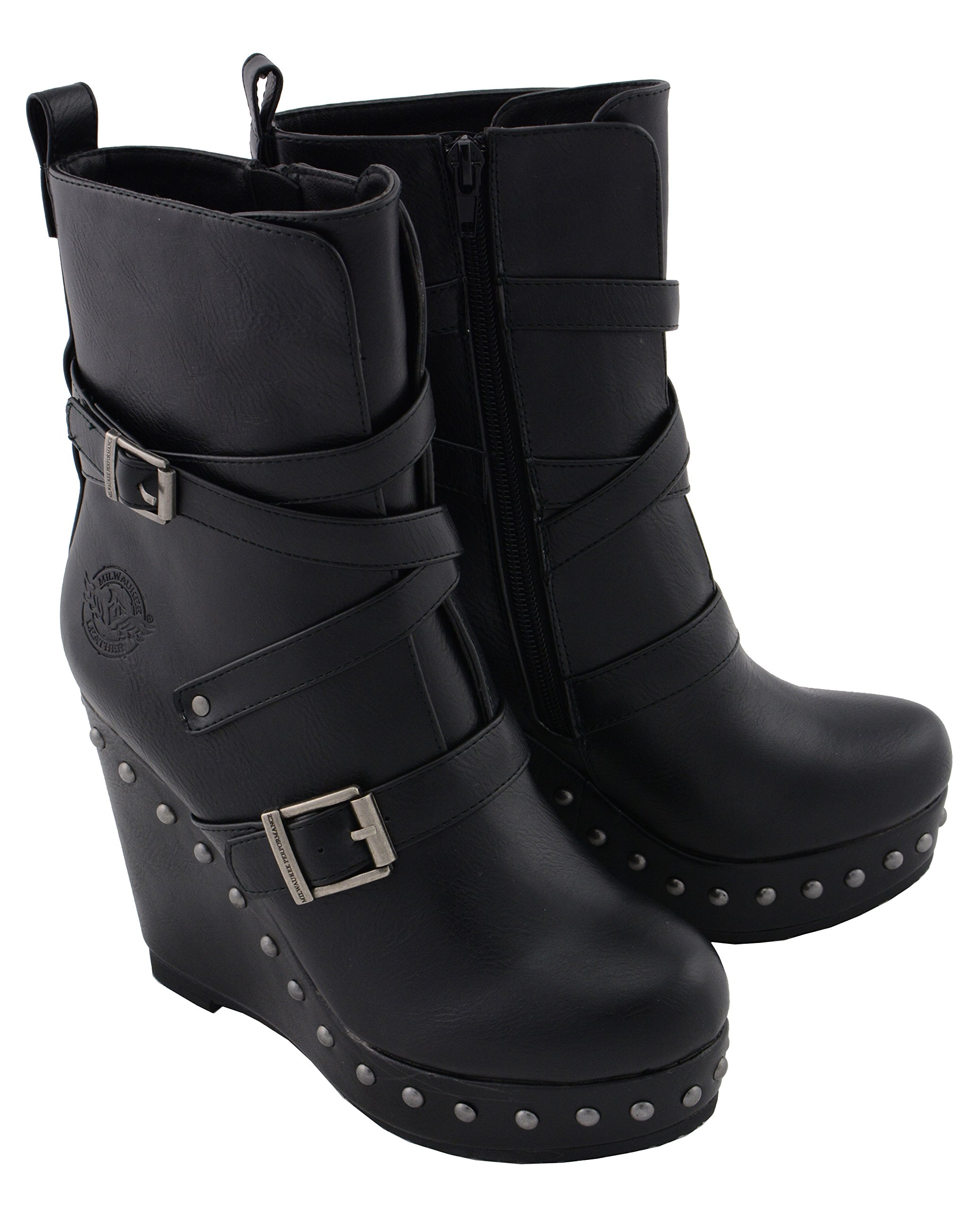 Milwaukee Performance Women's Triple Strap Boot (Black, 10)