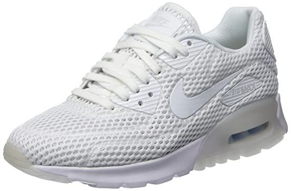 hot sale online 7d6c5 960c0 Nike Womens W Air Max 90 Ultra BR White Pure Platinum Mesh Running Shoes