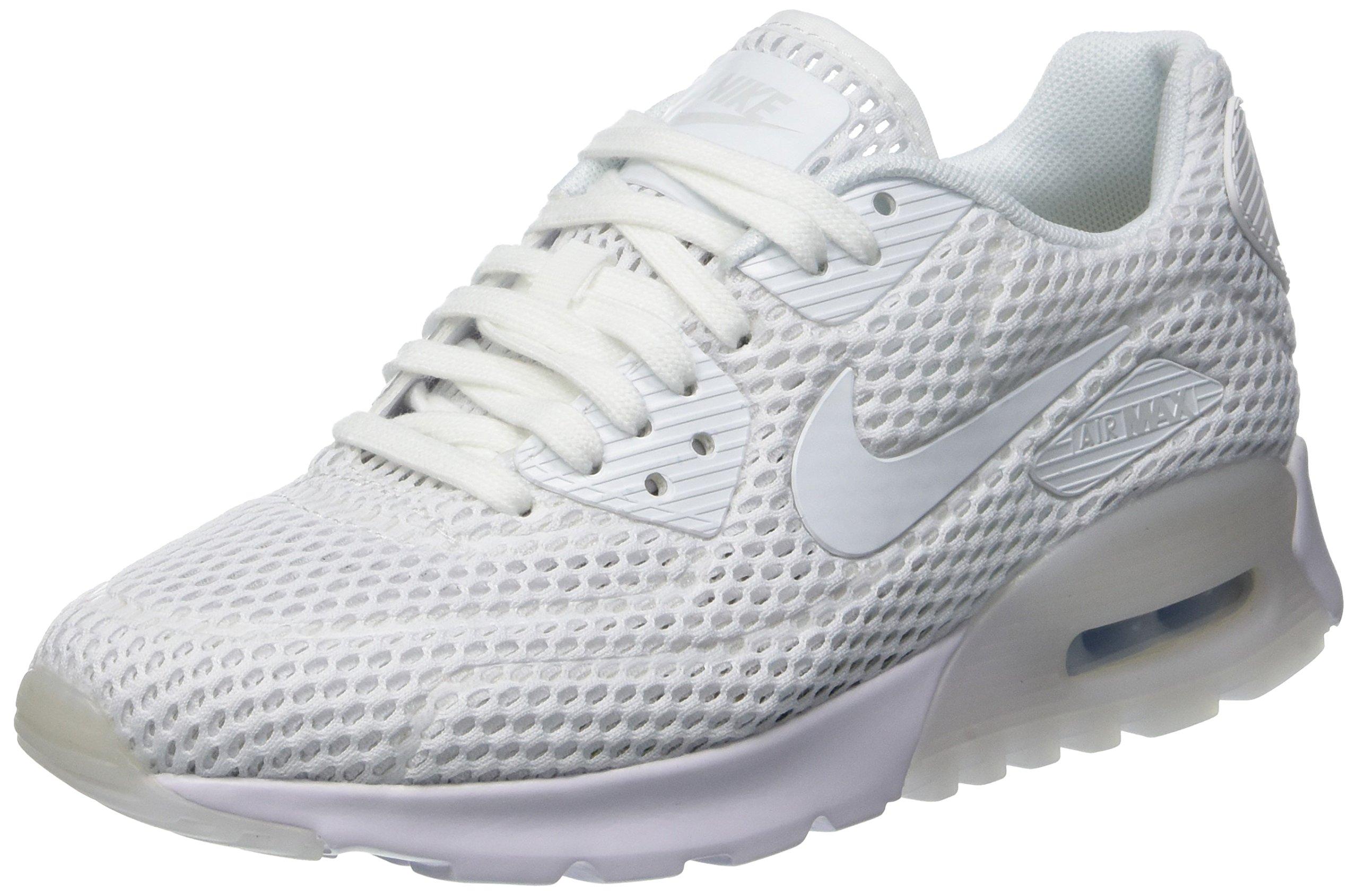 1c3e17aba99a Galleon - Nike Womens W Air Max 90 Ultra BR White Pure Platinum Mesh  Running Shoes