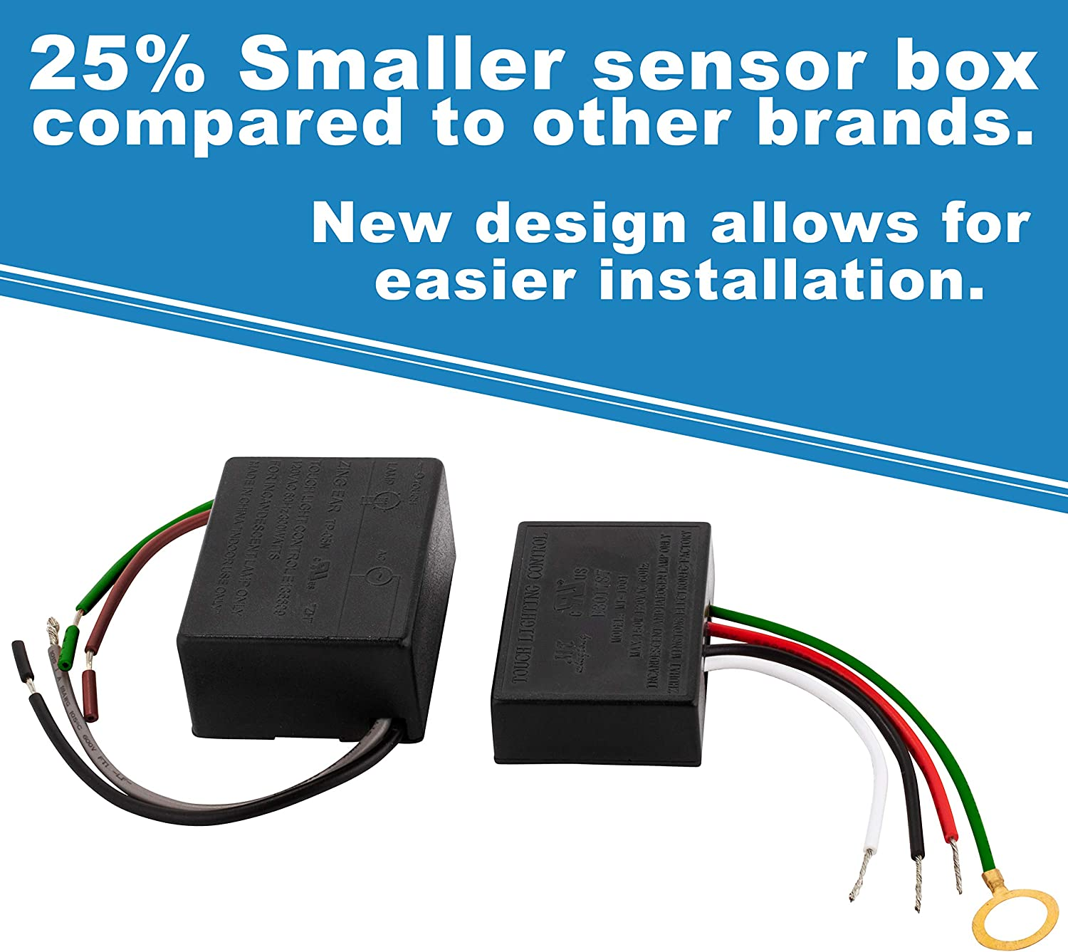 3 Way Touch Sensor Dimmer  Touch Lamp Repair Kit Control Module  Replacement Sensor  Touch