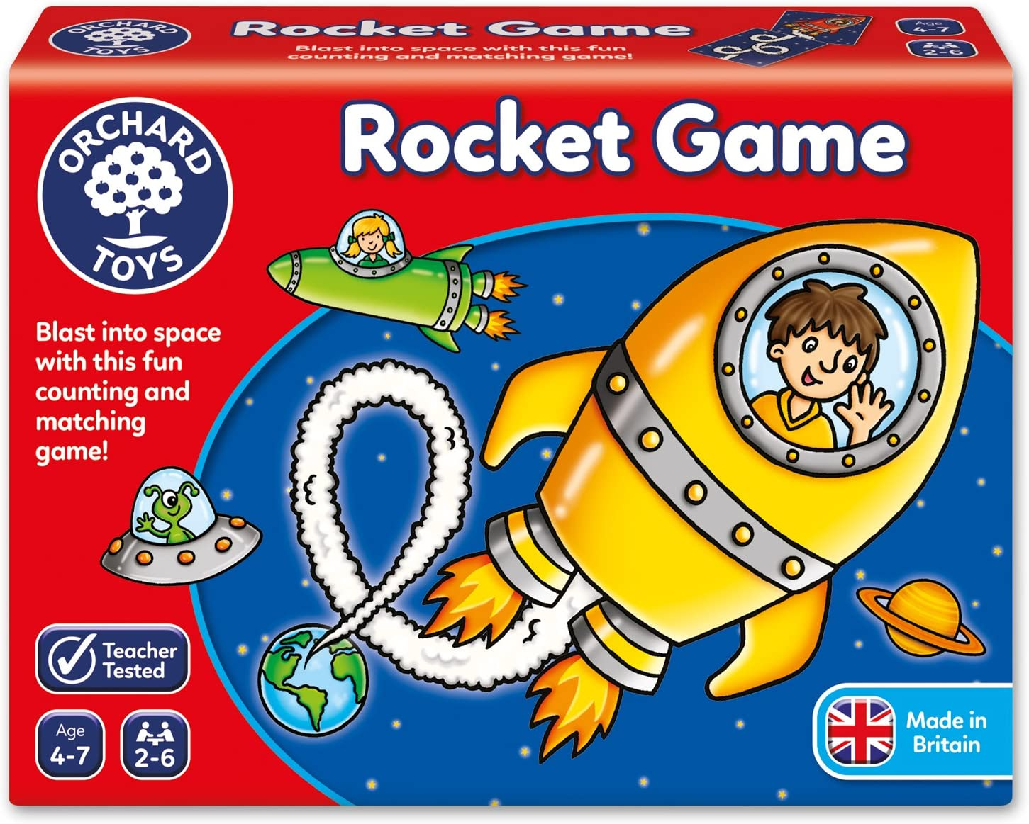 Orchard_Toys Rocket Game - Juego de Mesa de trayectoria de Cohetes: Orchard Toys Rocket Game (Assorted Colours): Amazon.es: Juguetes y juegos