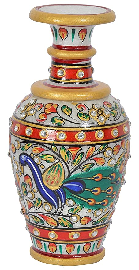 Amazon.com: APDITS Marble Meenakari Dancing Pea Painted Flower ... on flower box painting, flower bed painting, flower vases with flowers, modern palette knife painting, flower stand painting, frame painting, bottle flower painting, flower wreath painting, flower window painting, flower girl painting, candle painting, flower white painting, flower butterfly painting, flower oil paintings christmas, flower table painting, bird-and-flower painting, flower bowl painting, flower still life oil paintings, flower mirror painting, flower light painting,