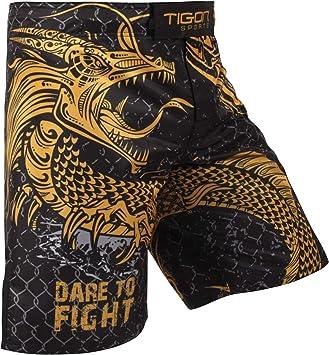 Tigon Pantalones Cortos Mma De Dragon Fight Ufc Que Luchan Pantalones De Jaula De Muay Thai De Patada Corta De Kick Boxeo Amazon Es Deportes Y Aire Libre