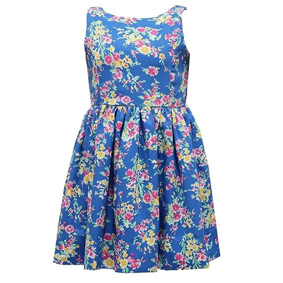 free shipping e49b9 d8c32 8991T vestito bimba RALPH LAUREN smanicato blue multicolor ...