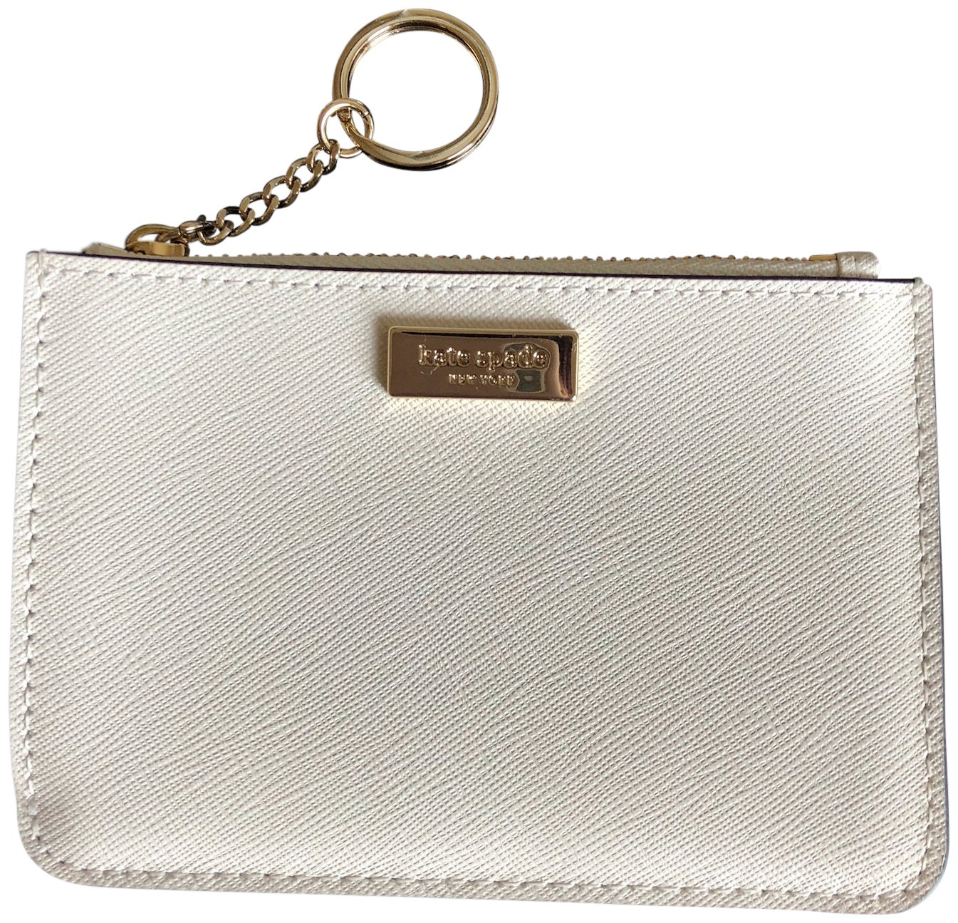 Kate Spade New York Laurel Way Bitsy Card Case W/Keyring Cream ,Beige, Small