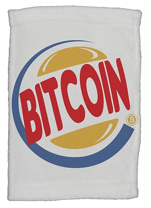 Toalla de mano divertida Bitcoin King Burger Parody super suave de 20 x 30 cm