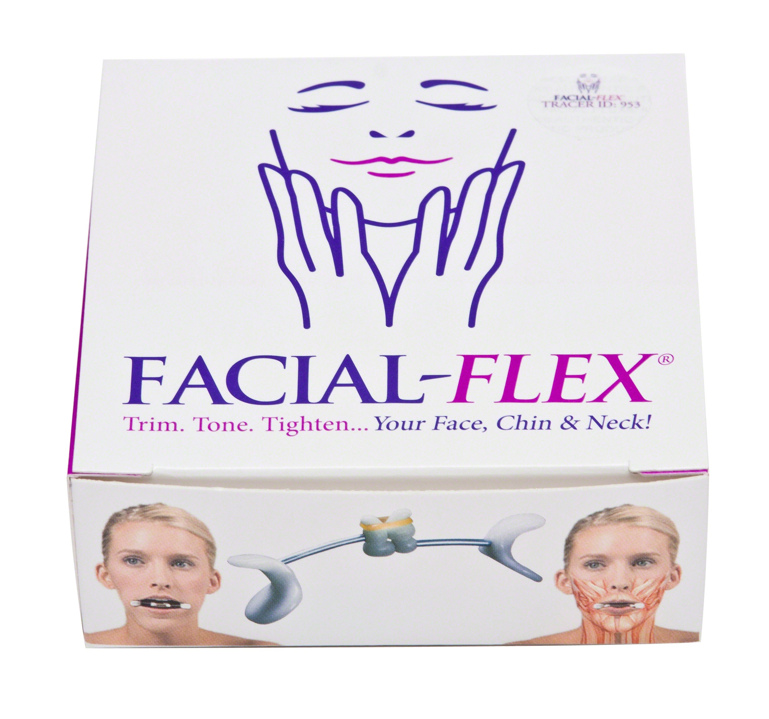 Facial Flex Facial Exercise and Neck Toning Kit Bands 8 oz & 6 oz & Case by Facial-Flex