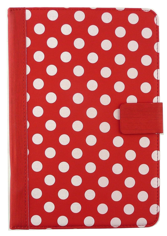 Emartbuy/® Bq Edison 3 Mini 8 Inch Tablet Universal Range Rojo /Ángulo M/últiples Executive Folio Funda Carcasa Wallet Case Cover con Tarjeta de Slots Negro L/ápiz /Óptico
