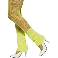 Smiffys Neon Yellow Leg Warmers