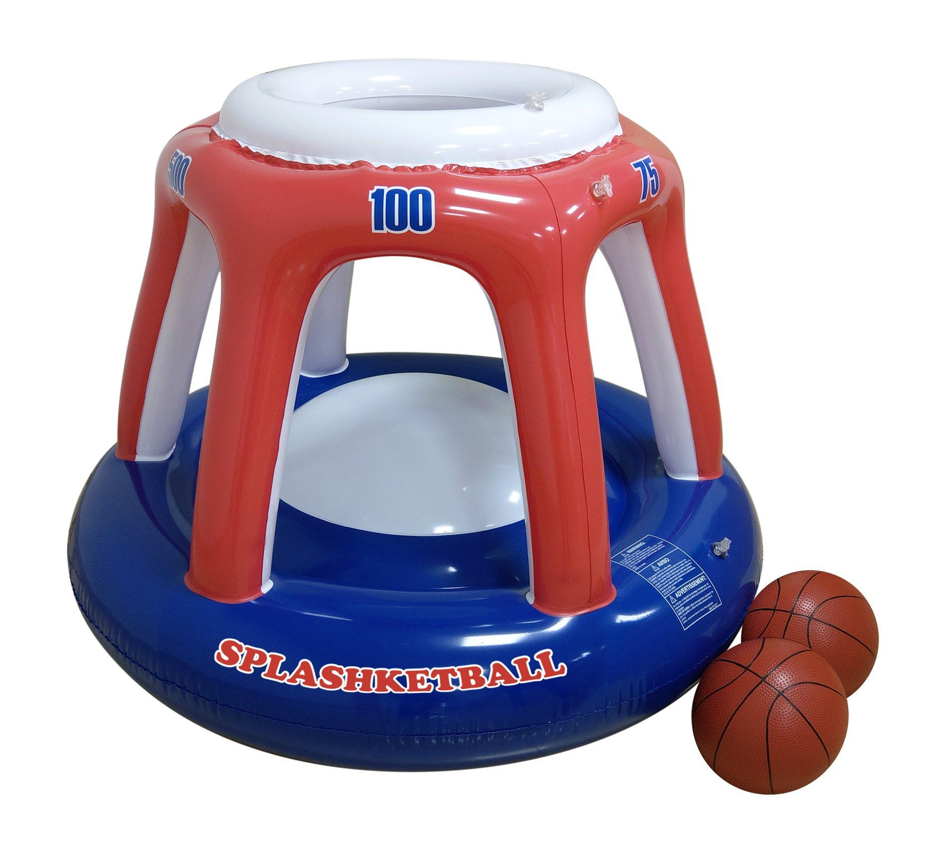 RhinoMaster Play Splashketball Basketball Pool Toy, Orange, Blue, 45'' L x 36'' W by RhinoMaster Play (Image #1)