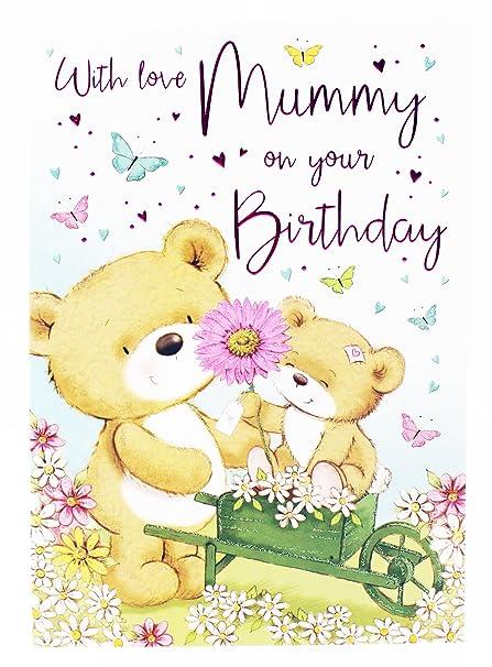 Tarjeta de felicitación de cumpleaños para mamá, verso de ...