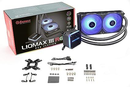 Enermax Liqmax III RGB - Refrigerador de Agua (240 mm), Color Negro