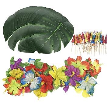 Amazon Com 98 Pieces Tropical Theme Party Decorations Kit