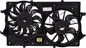 BOXI Engine Cooling Fan Assembly For 2000 2001 2002 2003 2004 Ford Focus (Replaces 1S4Z8C607AA,1S4Z8C607AC,1S4Z8C607AD)
