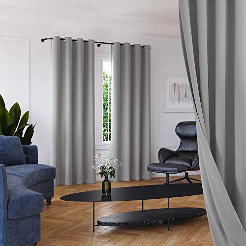 Roff Loff Living Room Curtains Silky Texture Extra Long Curtains Grommet Top Soundroof Curtains - a good cheap window curtain panel