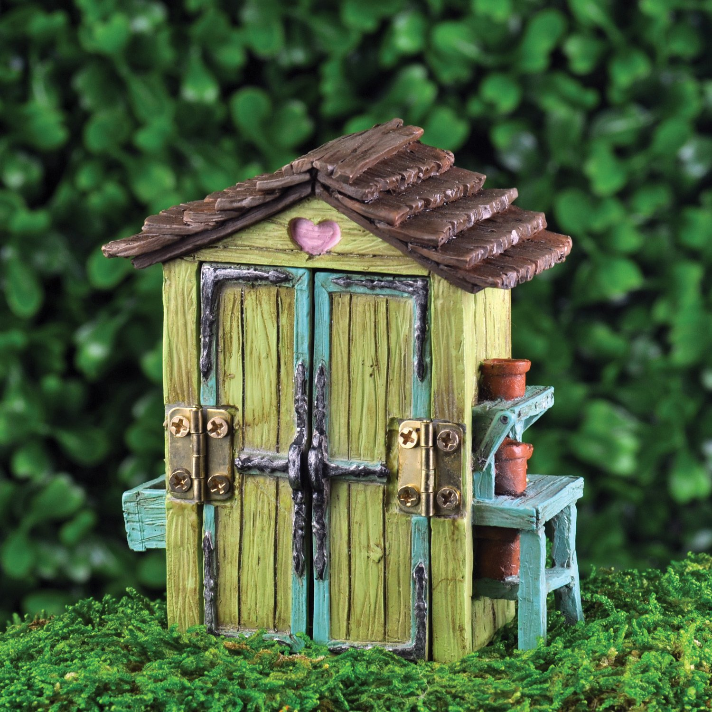 Amazon.com : Georgetown Home & Garden Miniature Garden Shed Garden ...