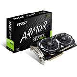 MSI GeForce GTX 1080TI Armor OC 11GB Nvidia GDDR5X 2x HDMI, 2x DP, 1x DL-DVI-D, 2 Slot Afterburner OC, VR Ready, 4K-optimiert, Grafikkarte