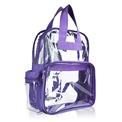 a27a131d15c1 DALIX Clear Backpack for School Transparent Bags Girls Boys Purple 12 Pack