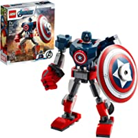 LEGO Marvel Avengers Classic Captain America Mech Armor 76168 Collectible Captain America Shield Building Toy, New 2021…