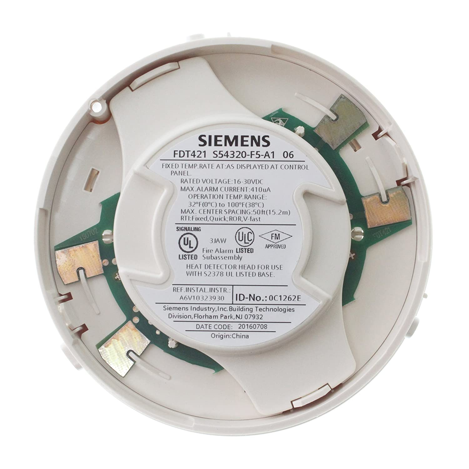 Amazon.com: Siemens FDT421 Intelligent Addressable Thermal Heat Detector/Sensor, White: Home Improvement