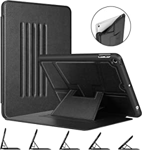 "Fintie Magnetic Stand Case for iPad Mini 5 2019, [Multiple Secure Angles] Shockproof Rugged Protective Soft TPU Back Cover with Pencil Holder, Auto Sleep/Wake for 7.9"" iPad Mini 5th Generation, Black"