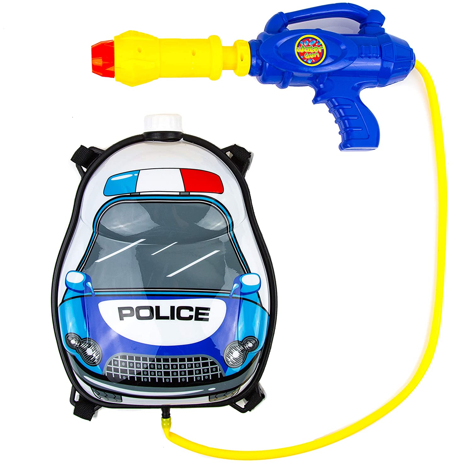 Toysery Police Truck Backpack Watergun Endless Fun for Kids Simple to Operate Recommended for Kids Age 3+ Safe and Durable Best Gift for Kids