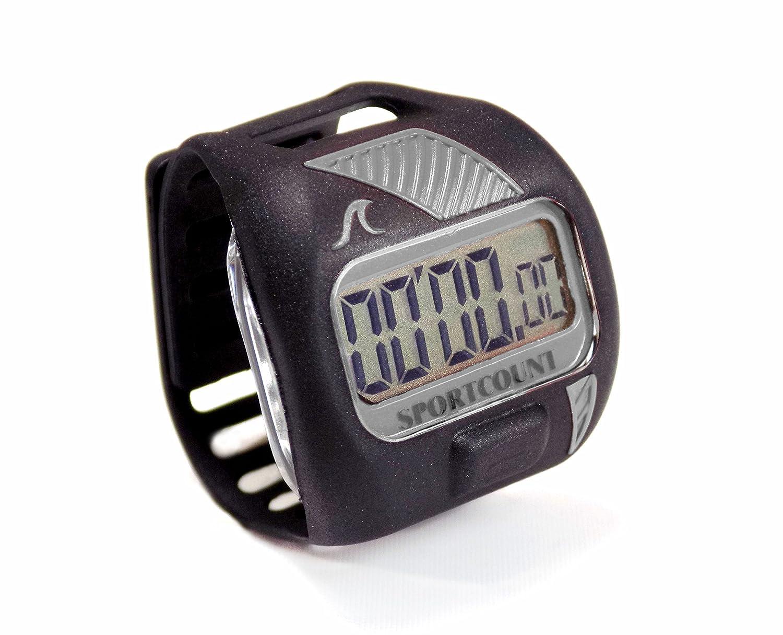 Contavasche digitale da dito per il nuoto Lapcounter grigio SPORTCOUNT