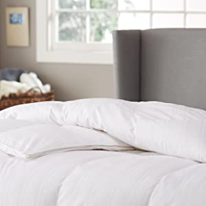 Pinzon Hypoallergenic White Goose Down Comforter