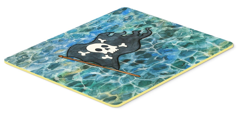 Multicolor 24Hx36W Carolines Treasures Pirate Flag Kitchen or Bath Mat 24x36