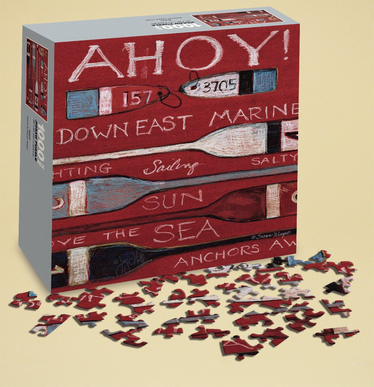 LANG Wells Street Ahoy Puzzle by Susan Winget 1000 Piece Perfect Timing Puzzles 6010007